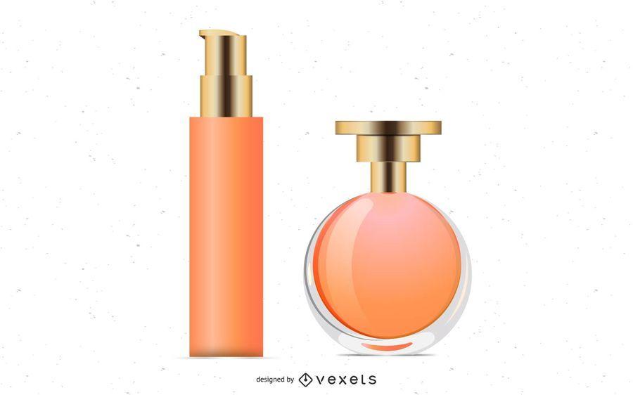 Botellas de perfume de vector
