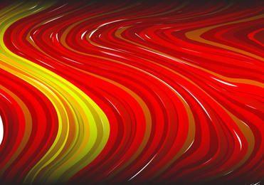Fondo rayado rojo abstracto de la pintura