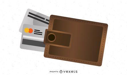 Vektor-Geldbörse