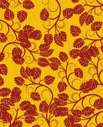 Red and yellow floral background