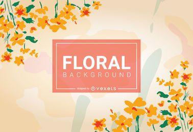 Diseño de fondo floral amarillo