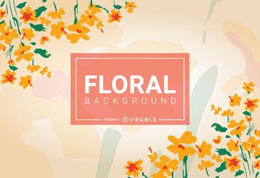 Yellow floral background design