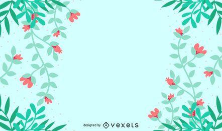 Hintergrund mit Blütenblättern