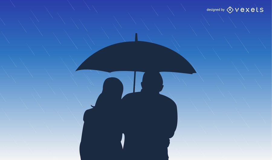 Guarda-chuvas na chuva