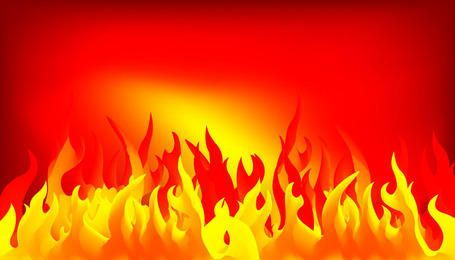 Abstract fire background design with illustration