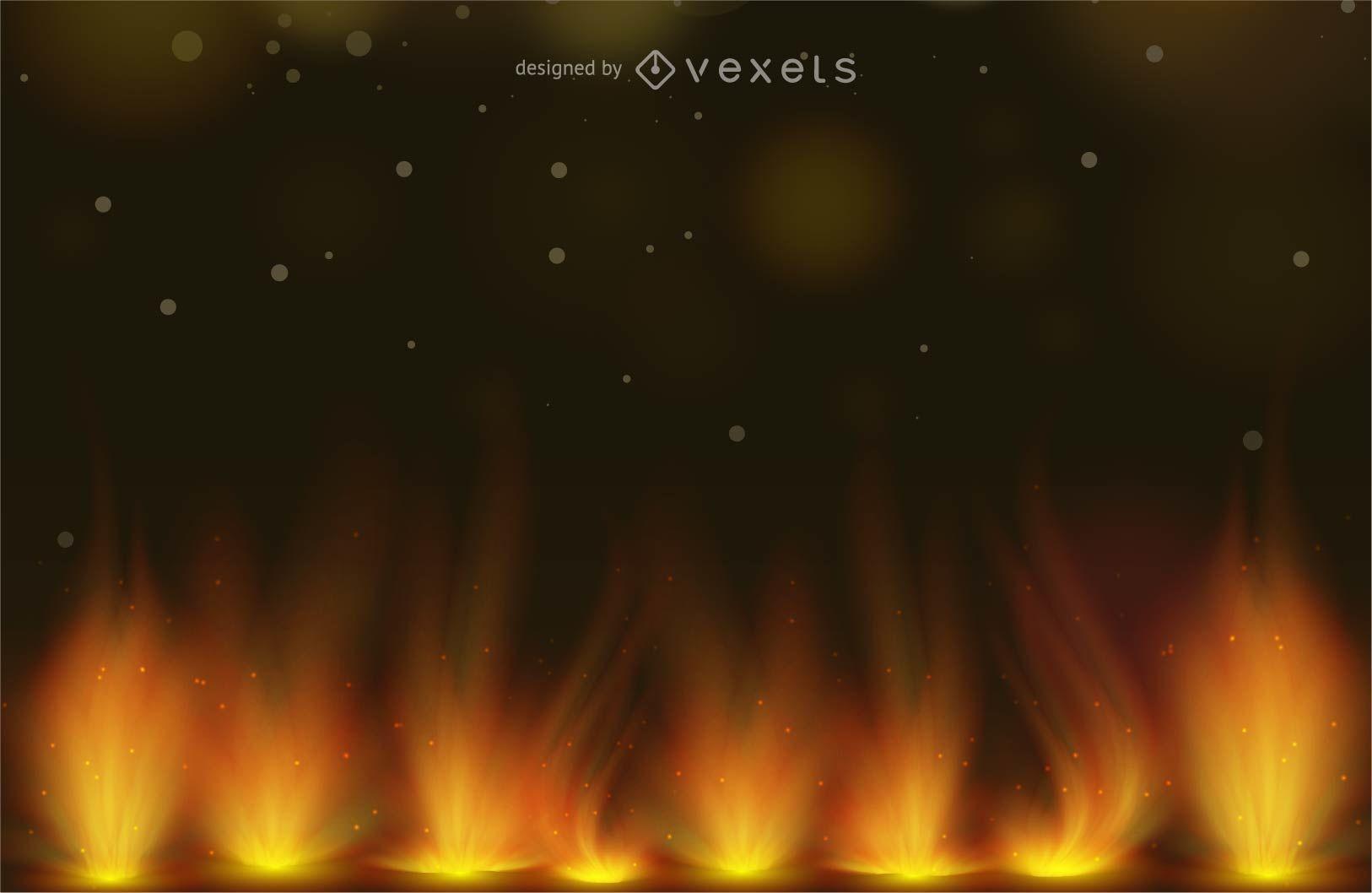 Diseño de fondo de fuego abstracto con ilustración