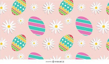 Fundo de Páscoa Floral colorido