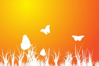 Fundo de primavera laranja