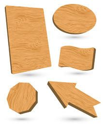 3d Vector Wooden labels