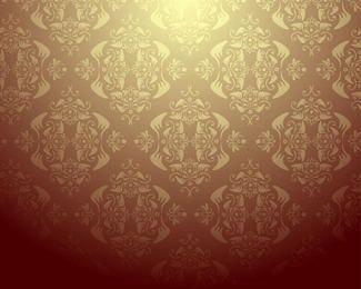 Diseño de papel tapiz de Damasco