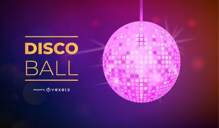 Vetor de bola de discoteca colorida