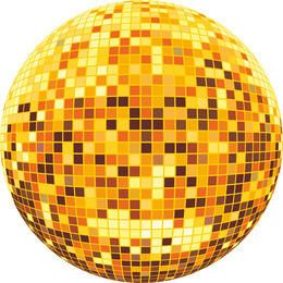 Colorful disco ball vector
