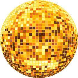 Vector colorido bola de discoteca