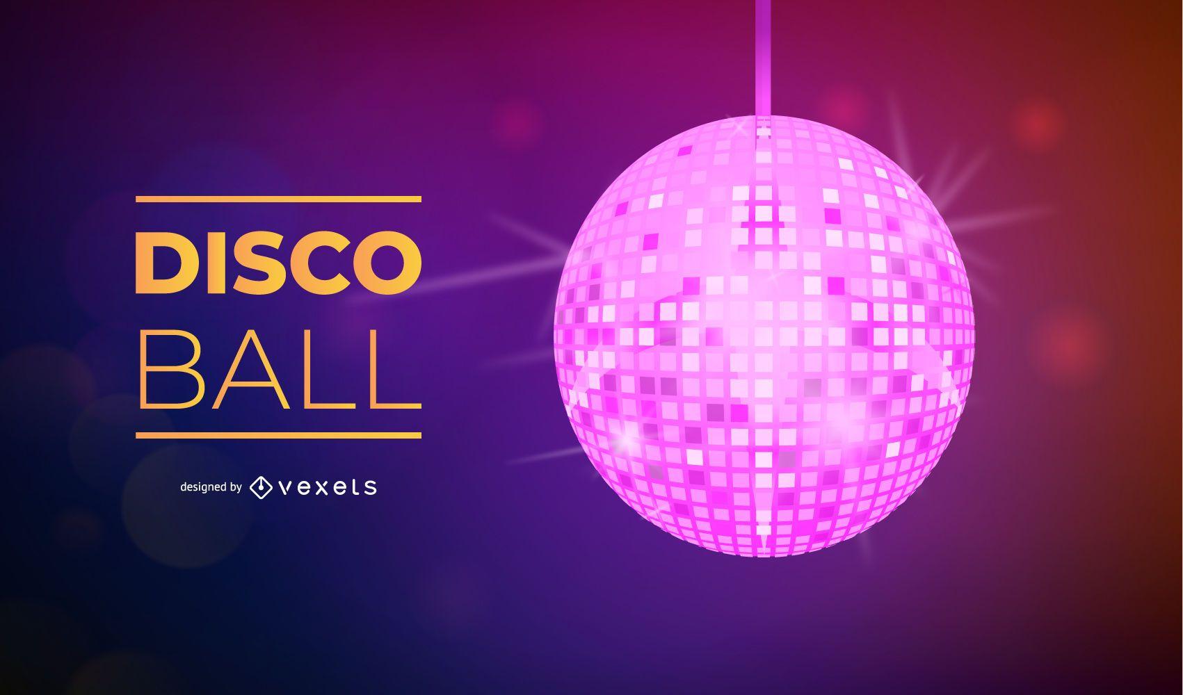 Vector de bola de discoteca colorida