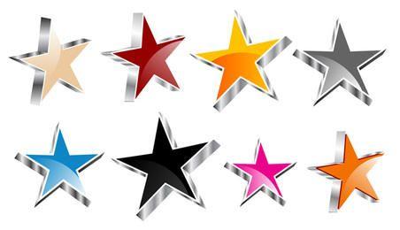 Colección de estrellas Vector