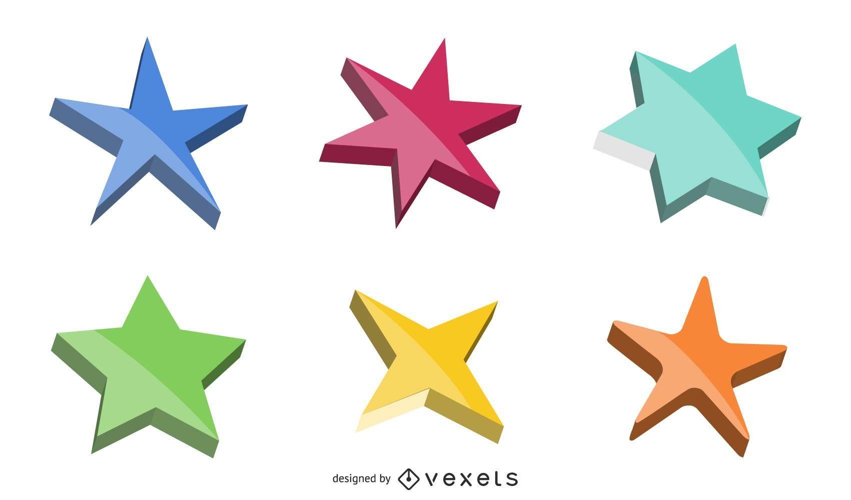 Colección de estrellas vectoriales