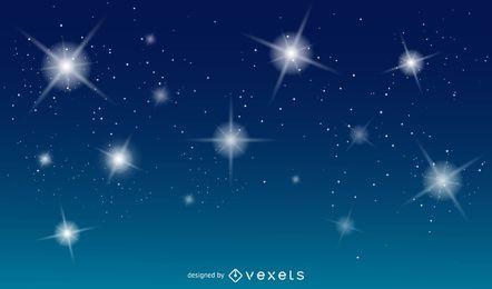 Fundo azul do vetor com estrelas