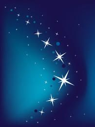 Fundo azul vector com estrelas