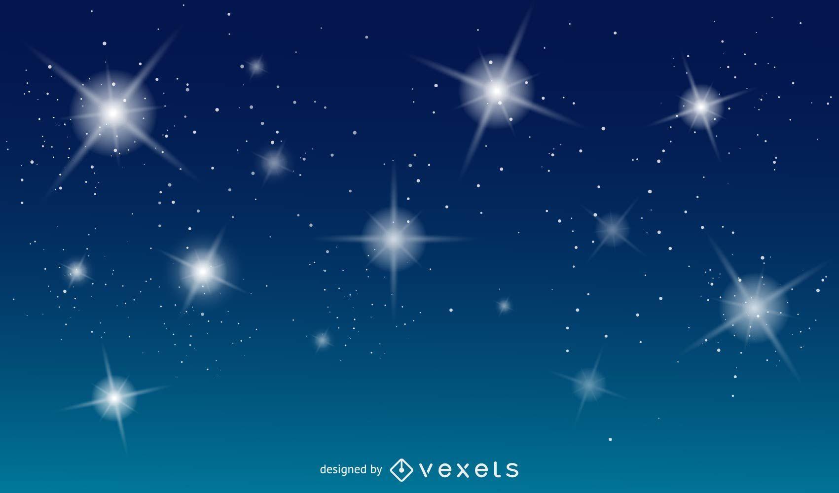 Fondo de vector azul con estrellas