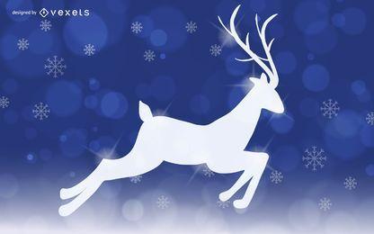 Diseño de renos mágicos navideños.