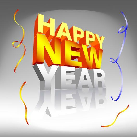 Happy New Year Confetti Text