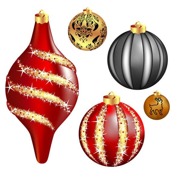 Cool vector christmas balls