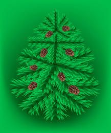 Fir christmas vector tree