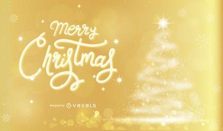 Diseño dorado navideño
