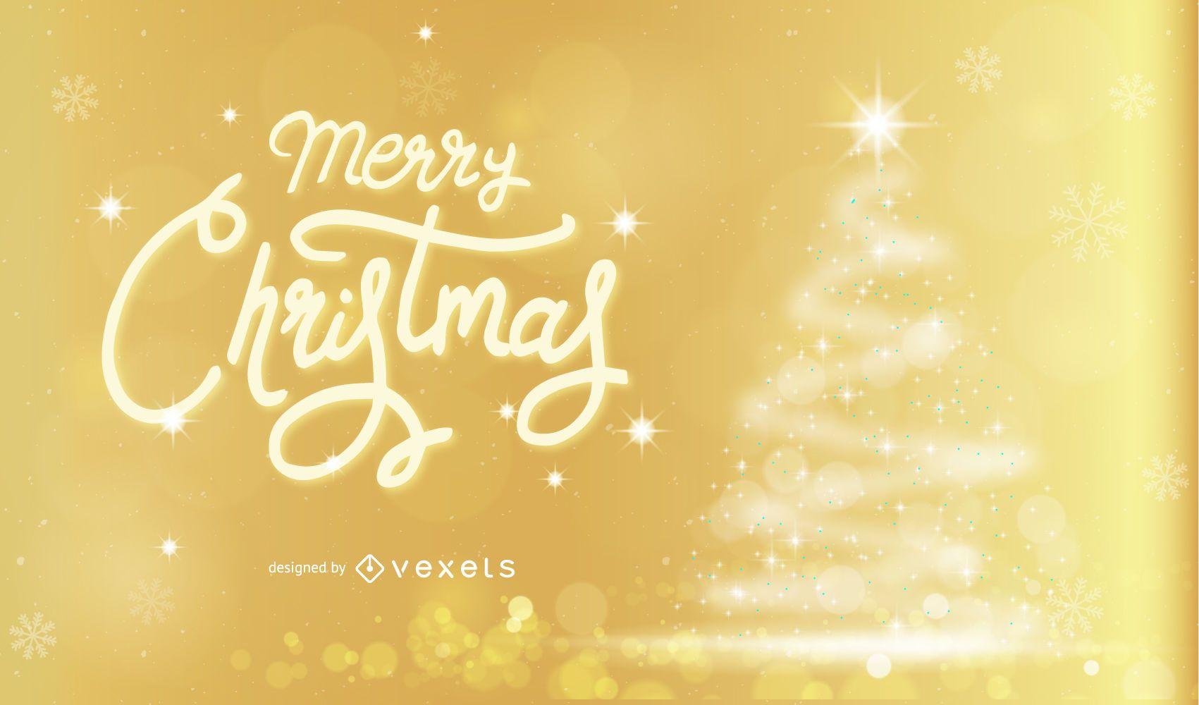 Diseño de fondo dorado feliz Navidad