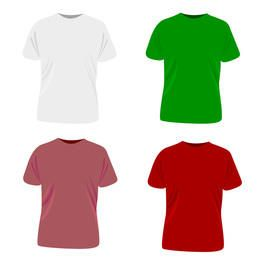 Modelo de camiseta de vetor