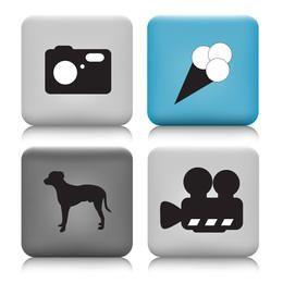 Botones vectoriales - iconos