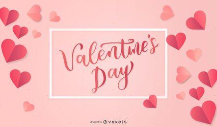 Corações de vetor de dia dos namorados