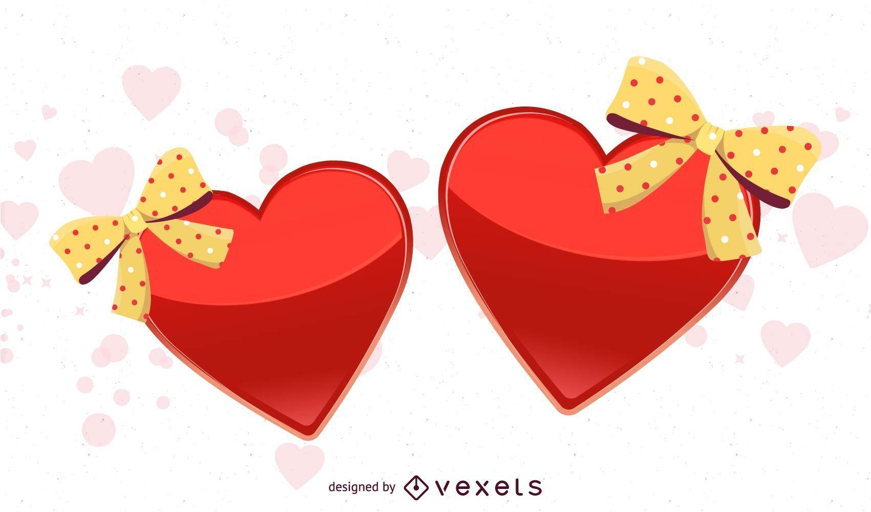 Corações Vector
