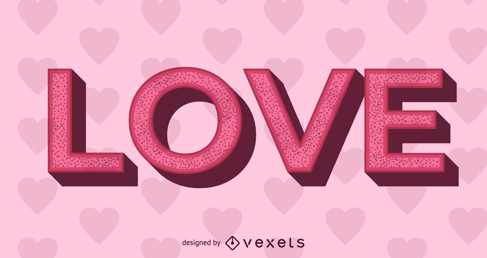 Texto de amor 3D