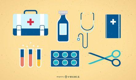 Colección de iconos vectoriales médicos