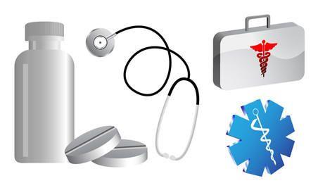 Icono libre del vector de recogida médica