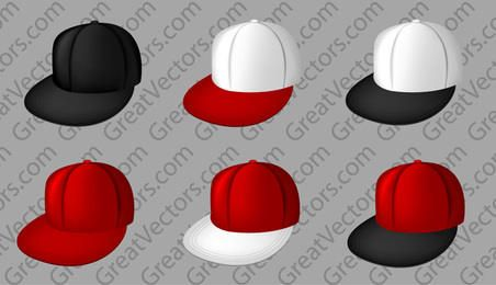 Vector full cap templates