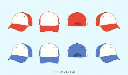 Colección de gorra completa de vector