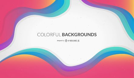 Colorful wavy background design