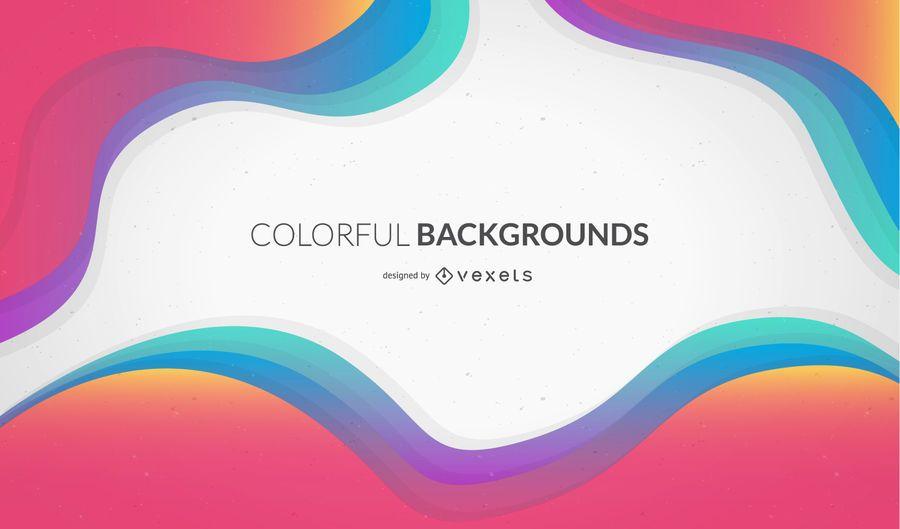 Design de fundo ondulado colorido