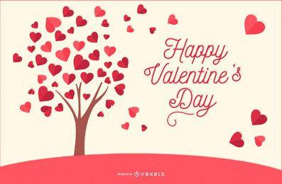 Árbol de amor para el día de san valentín.
