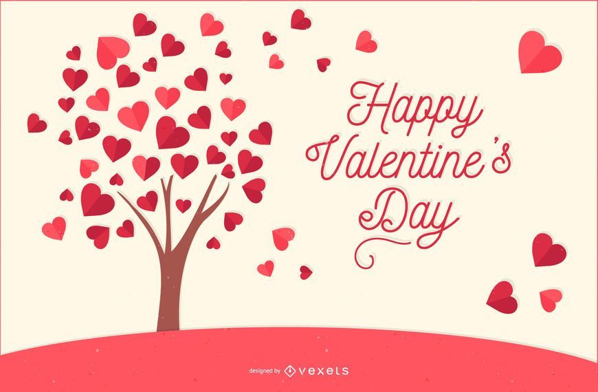 Amor, árvore, para, valentine's day