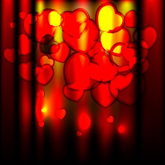 Shiny valentines day vector background