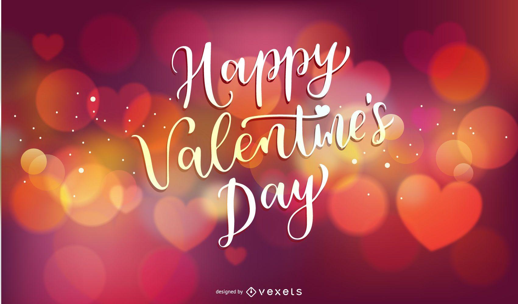 Shiny valentines day vector background