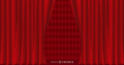 Roter strukturierter Vorhang-Hintergrund