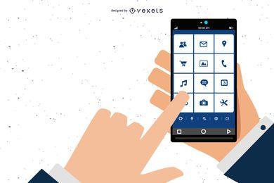 Teléfono del vector