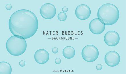 Fondo azul con burbujas