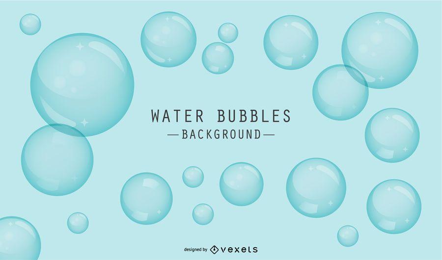 Fundo azul com bolhas