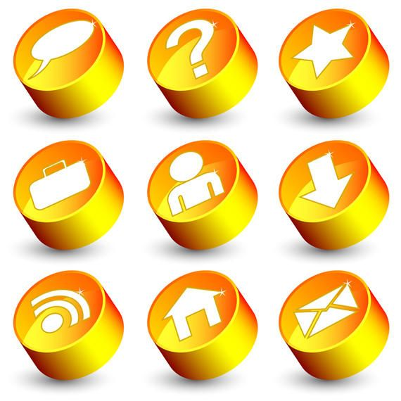 Free vector web 20 icons vector download free vector web 20 icons sciox Choice Image
