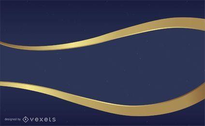 Azul e ouro de fundo vector